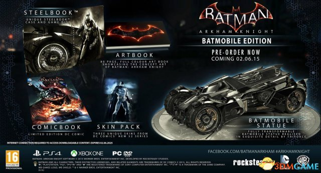 闹哪样?《蝙蝠侠:阿卡姆骑士》蝙蝠车限定版取消