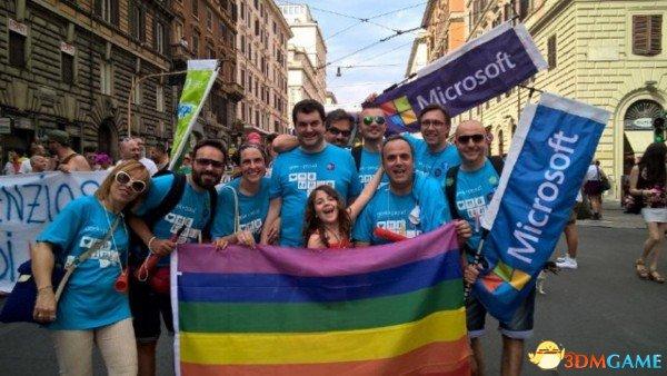 微软员工游行庆祝美国通过同性婚姻全境合法化