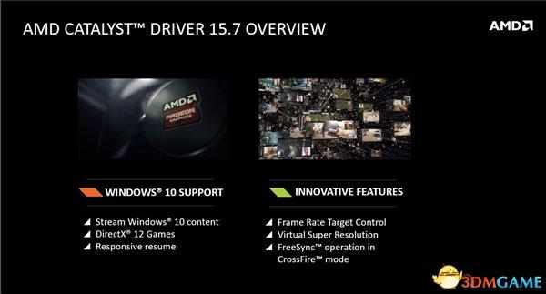 AMD催化剂15.7正式版发布:游戏优化 支持Win10