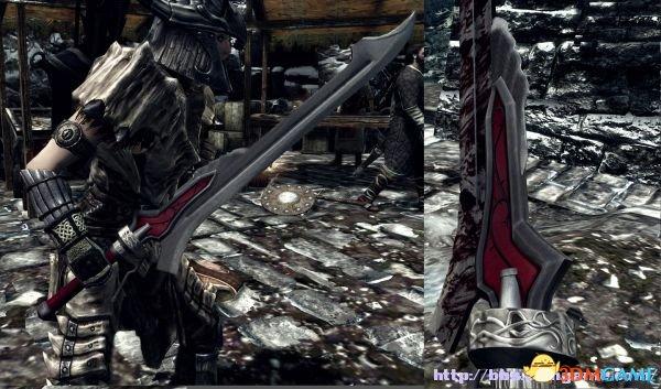 上古卷轴5 武器MOD 鬼泣4 NERO 的赤色皇后