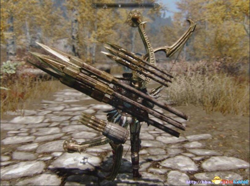 上古卷轴5 武器MOD 异常霸气的攻城长弓MOD下载