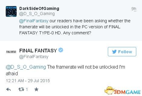 《最终幻想:零式HD》PC版锁30帧?高清新图曝光
