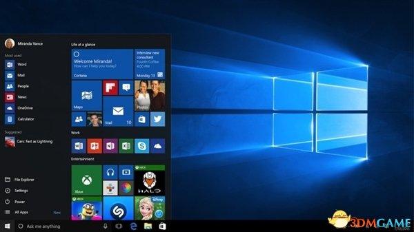 Windows 10开始菜单光荣回归!拿下设计界奥斯卡