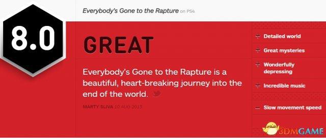 《万众狂欢》IGN 8.0分 一段令人充实的心动之旅