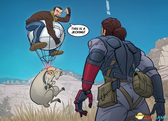 《合金装备5》遇《GTA4》会怎样?Niko被气球回收