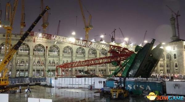麦加大清真寺巨大塔吊倒塌 107人遇难238人受伤