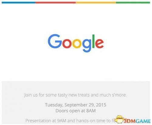谷歌于9月29日举行发布会:新一代Nexus手机亮相