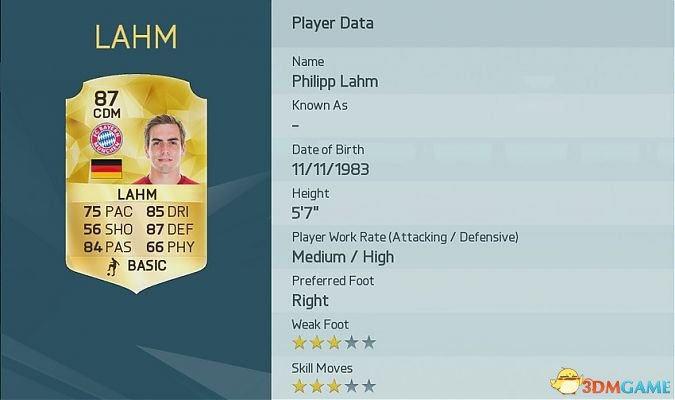FIFA 16 十大防守悍将 FIFA16中有哪些防守悍将