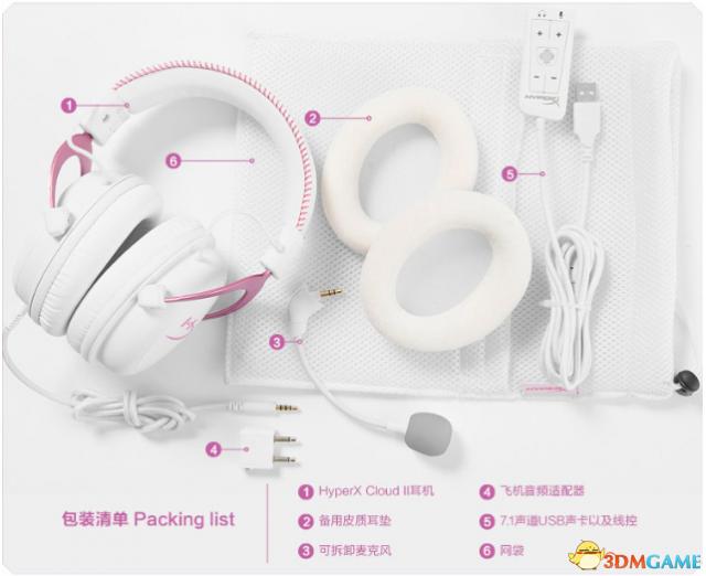 <b>恒盈推荐:秀色可餐的 HyperX Cloud II粉白耳机</b>