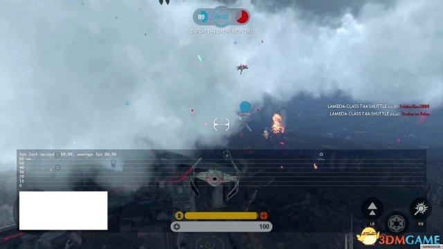 《星球大战:前线》XB1帧数测试 几乎全程60帧