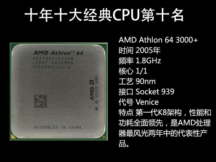 温故知新!十年内十大经典CPU 第一名真是空前绝后