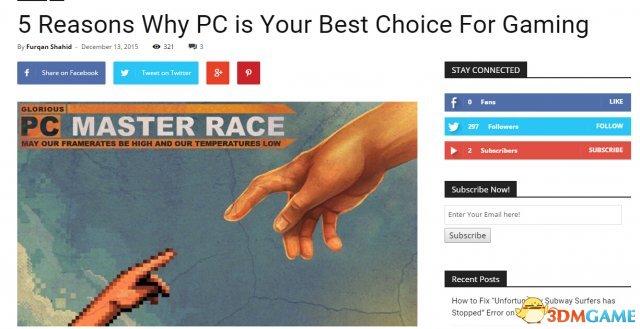 PC仍是玩游戏最佳游戏平台 这五大理由你服不服?