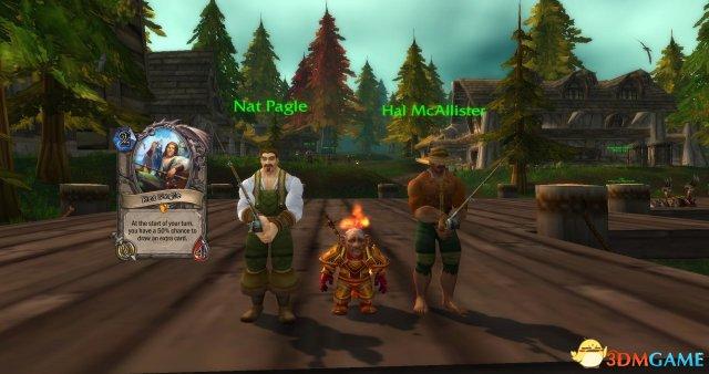 《炉石传说》卡牌与《魔兽世界》场景角色对比图