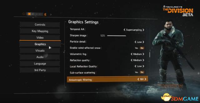 《全境封锁》PC版画质选项曝光 选项太多期待优化