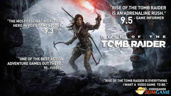 《古墓丽影:崛起》PC版获好评!Steam玩家狂点赞