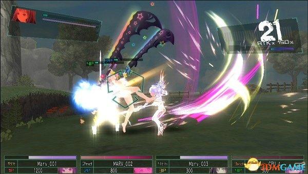 在战斗中玩家可以进行4人混战与2人分组的组对战