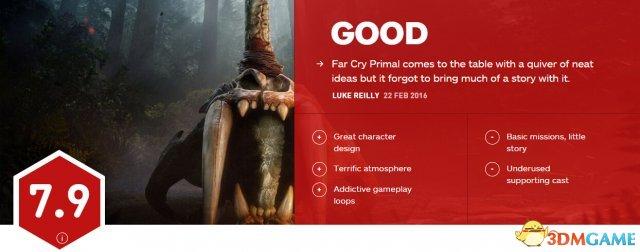 《孤岛惊魂:原始杀戮》IGN 7.9分 好玩但故事弱