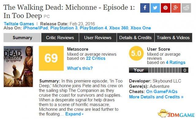 Metacritic上媒体平均分目前是69分