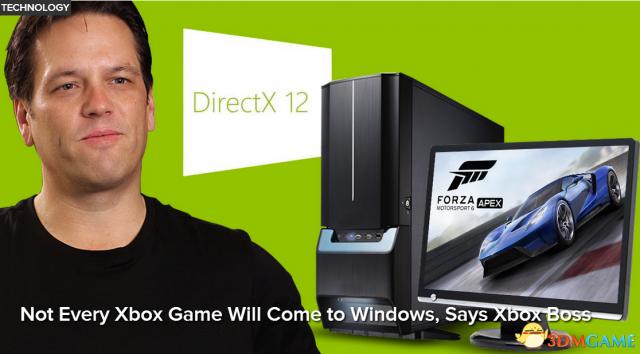 <b>Xbox总监表示不是所有Xbox One独占游戏都登陆PC</b>