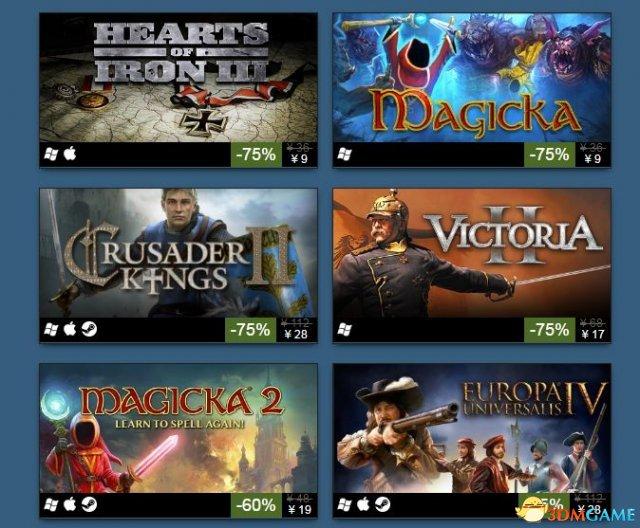 又逢折扣喜加一 策略战略类经典游戏steam大促销