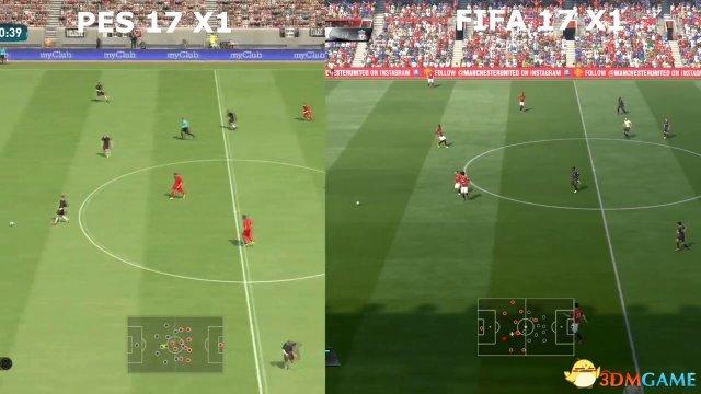 <b>谁更美?《实况足球2017》《FIFA 17》画面对比</b>