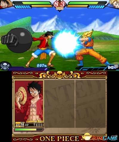海贼王pk单机游戏_悟空战路飞!3DS《海贼王》VS《龙珠》更新上线_3DM单机