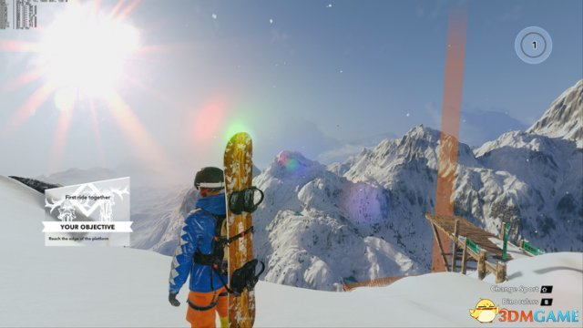 《极限巅峰》超多新图展示 给你真实滑雪运动体