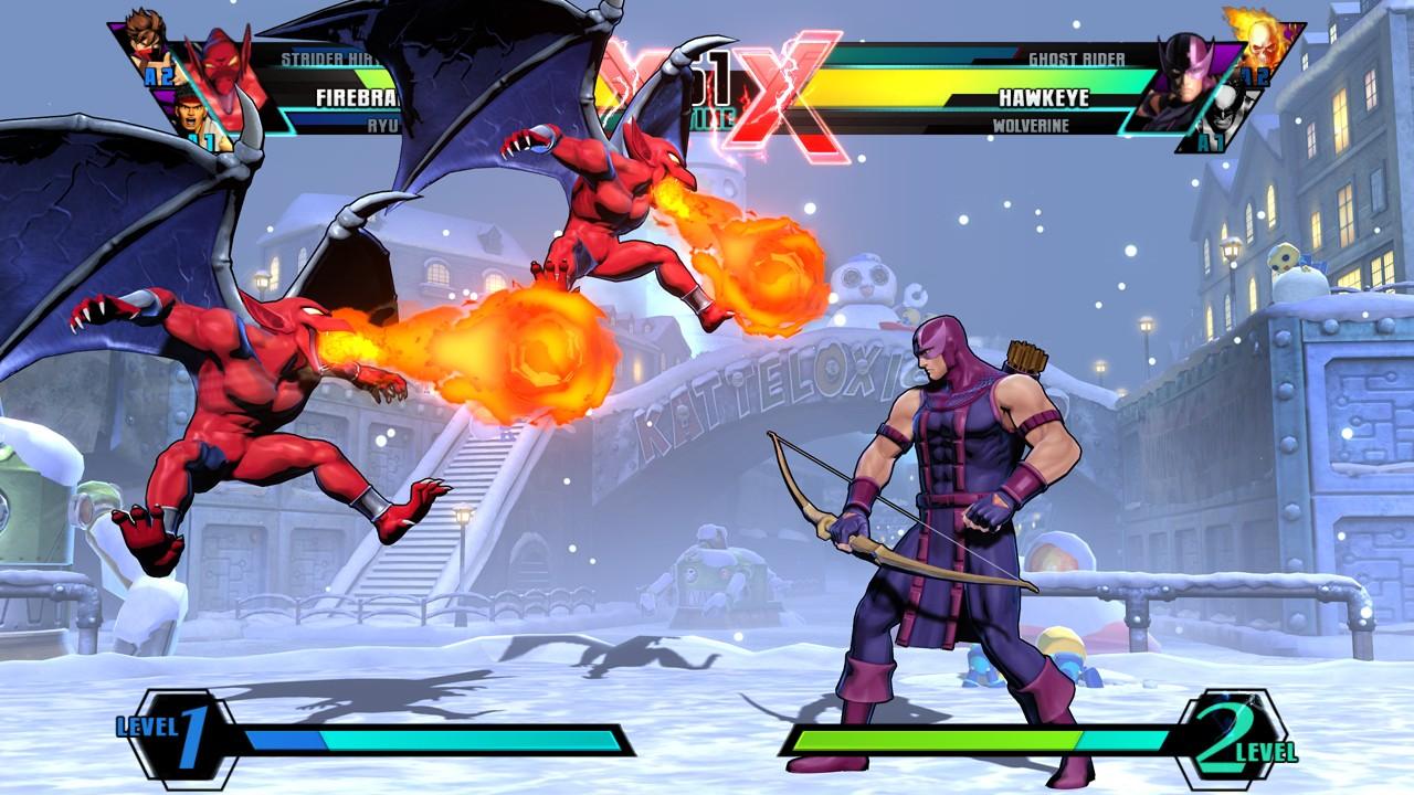 终极漫画英雄vs卡普空3 游戏截图