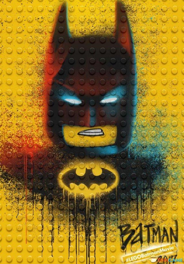 《乐高蝙蝠侠》曝光全新涂鸦海报 正反角色集合