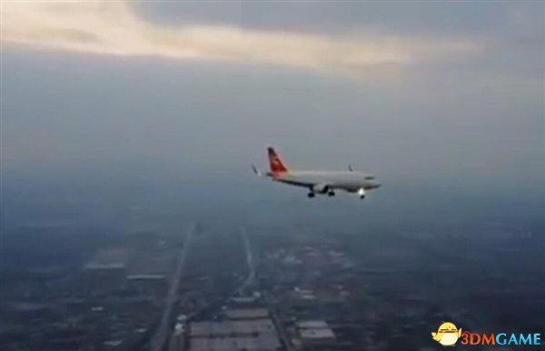 无人机恐怖近距离拍客机遭喷 真相彻底大白