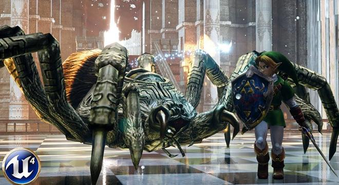 国外玩家用虚幻4重制《塞尔达传说》 画面大变化