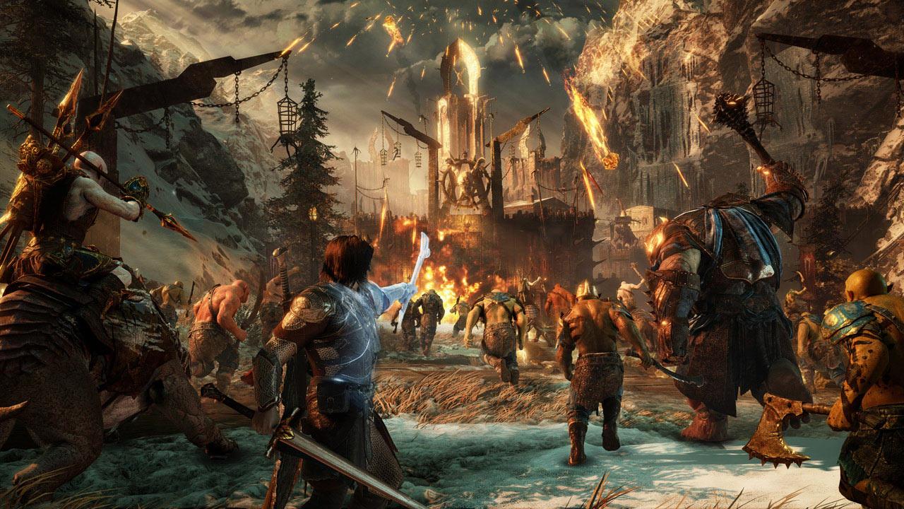 《中土世界:战争之影》PC版演示 林中战巨龙