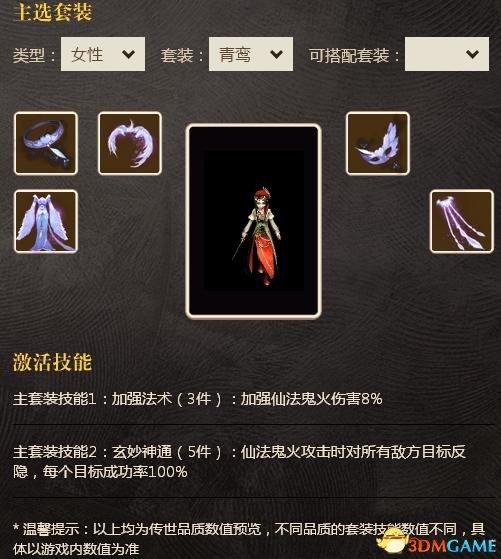 <b>鸾凤和鸣一梦惊鸿 大话2免费版女仙套装强力推荐</b>