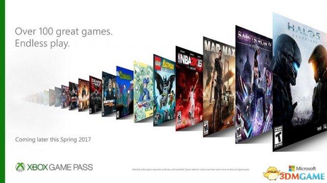Xbox游戏通行证更多细节公开