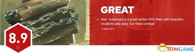<b>《尼尔:机械纪元》IGN 8.9分 一个伟大动作RPG</b>