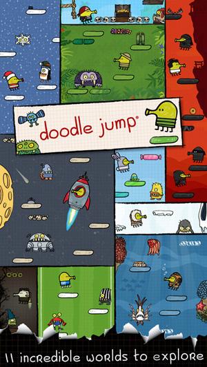 涂鸦跳跃 游戏截图