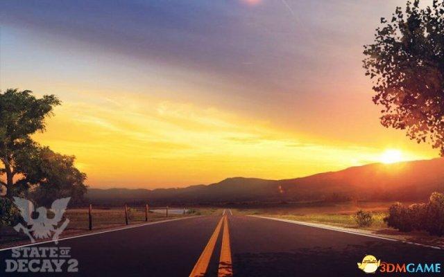 《腐烂国度2》最终概念原画:日落时的公路好美