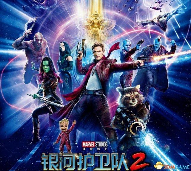 《银河护卫队2》 中文人物海报 星爵父子同步亮相