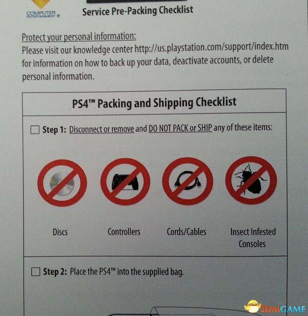 """国外在PS4维修费用列目里添加了""""蟑螂费"""""""