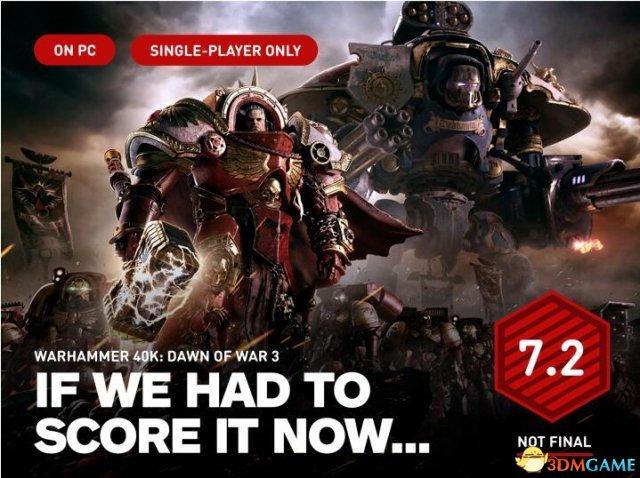 <b>《战锤40K:战争黎明3》单人战役IGN暂时7.2分</b>