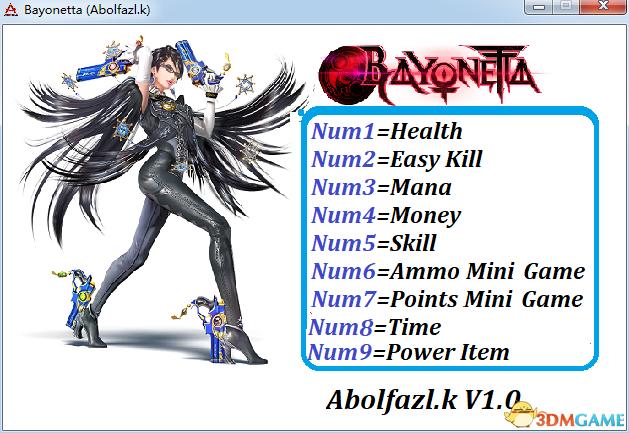 猎天使魔女 v1.0九项修改器[ABOLFAZLK]