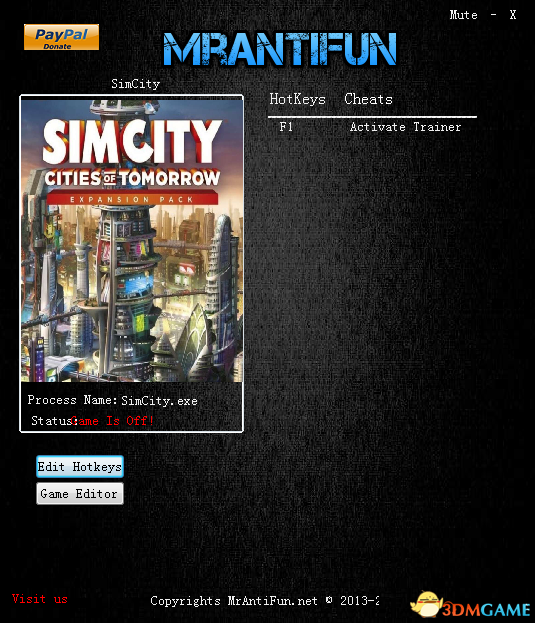 模拟城市5:未来之城 V10.3.4.0离线修改器[MrAntiFun]