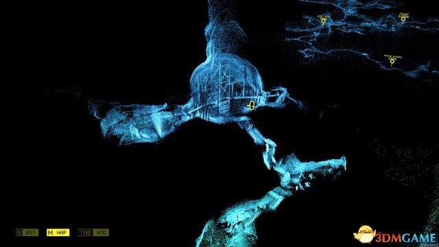 《幽暗扫描》游戏截图欣赏 无数光点照亮黑暗洞穴