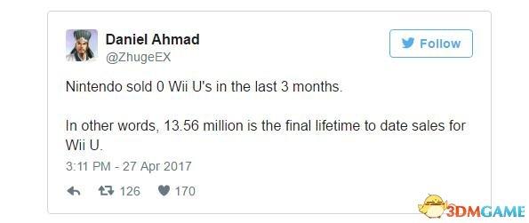 Switch首月生产数量公布!Wii U半年国内出售量是0