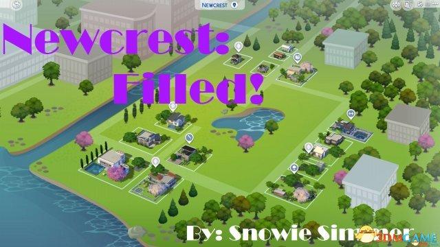 模拟人生4 怡景绝顶全房子建造地图MOD
