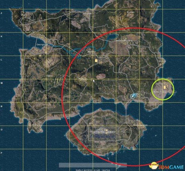 绝地求生跳伞最佳位置分析