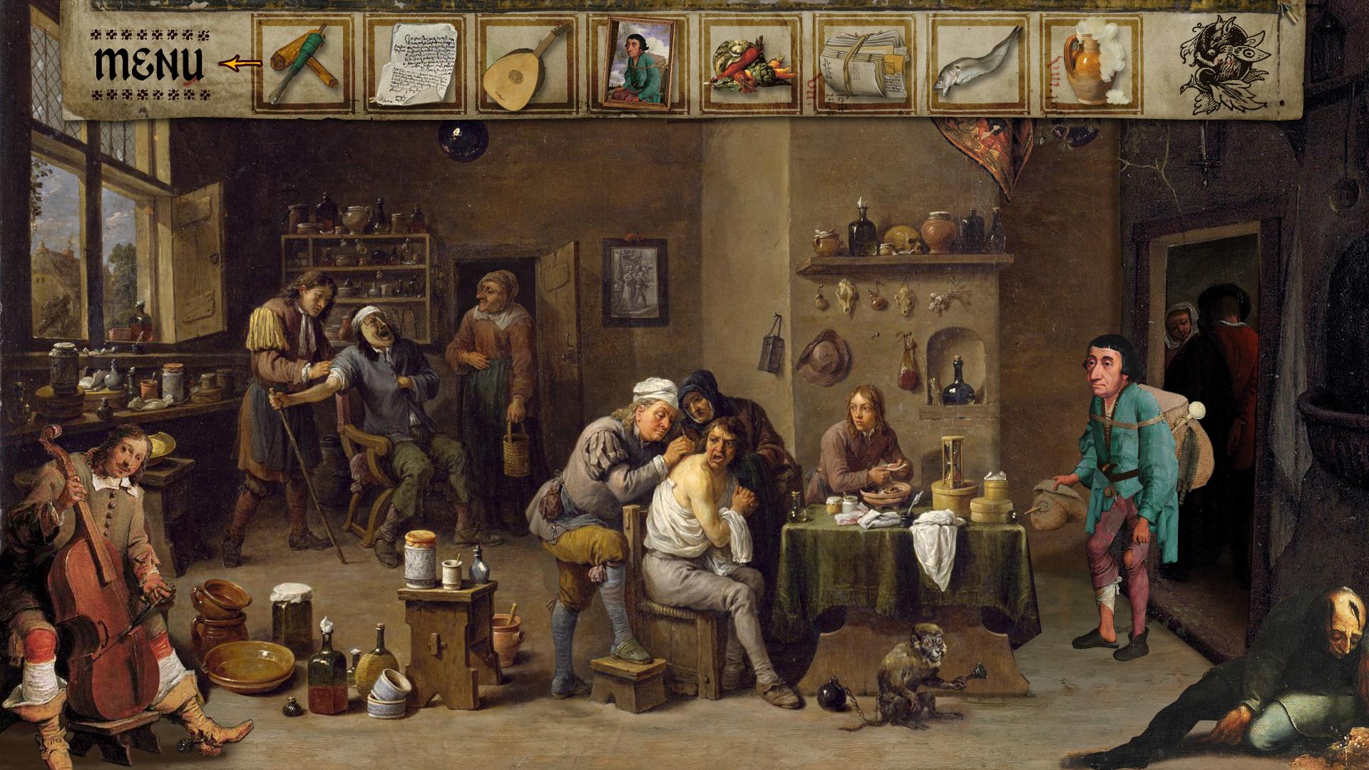 宗教油画与谜团 游戏截图