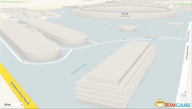 苹果地图更新 能看到新家Apple Park的3D模型