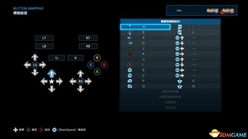 注意右下角,游戏里的提示采用的是手柄/摇杆键位名称.