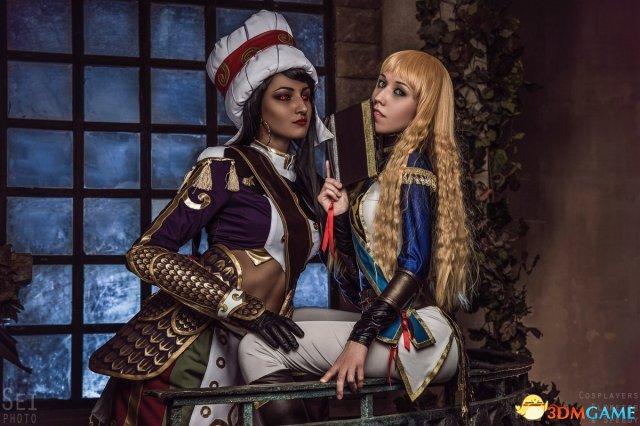 魔兽玩家COS美图欣赏 安度因与拉希奥的深情缠绵